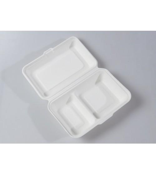 245 x 165 x 80 2 Compartment Organic Pulp Tray