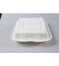 "10"" Organic Pulp 3 Compartment Clamshell"