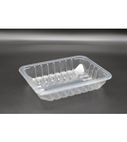 9 X 7 X 40 RIBBED TOP SEAL TRAY / CLEAR