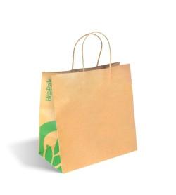 BIOPAK LARGE TWIST HANDLE KRAFT PAPER BAG