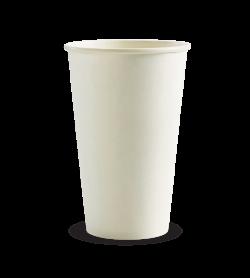 BIOPAK 510ML / 16OZ (90MM) WHITE SINGLE WALL BIOCUP