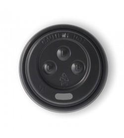 BIOPAK 63MM PS BLACK SIPPER 4OZ LID
