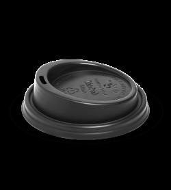 BIOPAK 6-12OZ (80MM DIA) PLA BLACK SMALL LID