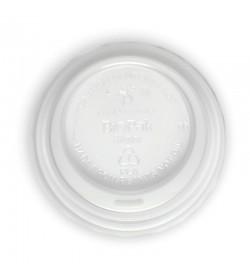 BIOPAK 6-12OZ (80MM DIA) PLA WHITE SMALL LID