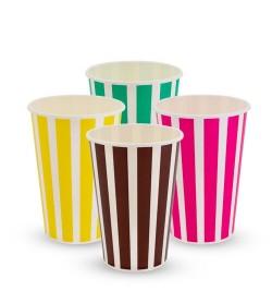 16oz Candy Stripe Cold/Milkshake Cups