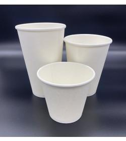 Single Wall Coffee Cup 4oz White