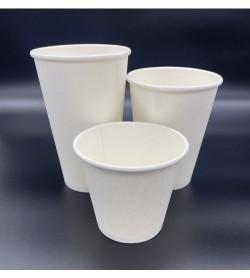 Single Wall Coffee Cup 16oz White