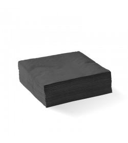 BIOPAK 2-PLY BLACK CORNER EMBOSSED COCKTAIL BIONAPKIN