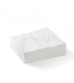 BIOPAK 1-PLY 1/4 FOLD WHITE LUNCH BIONAPKIN