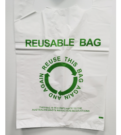 Plastic Reusable Carrier Bag Large
