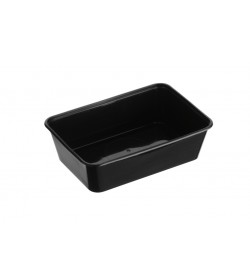 Genfac 650ml Rectangular Container Black