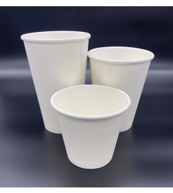 Single Wall Coffee Cup 4oz White